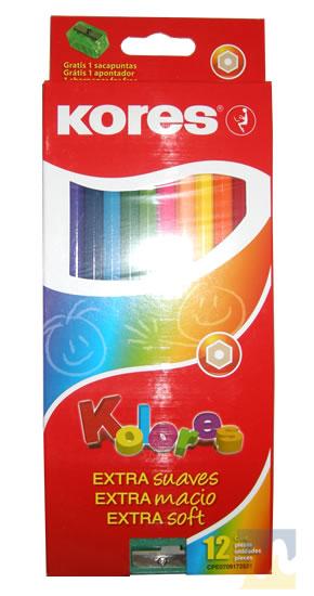 Creyones de Madera Kores 12 Colores