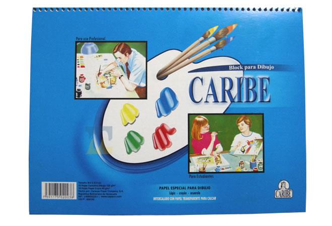Block de Dibujo Espiral Caribe 6120 en MegaOffice.com.ve