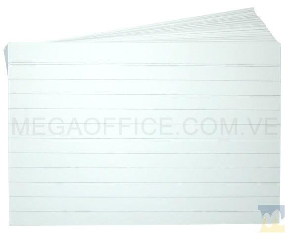 Fichas Rayadas 4x6 en MegaOffice.com.ve