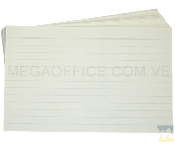 Fichas Rayadas 5x8 en MegaOffice.com.ve