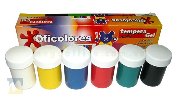 Tempera 6 Colores en MegaOffice.com.ve